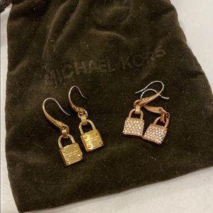 2 pairs of Michael Kors earrings